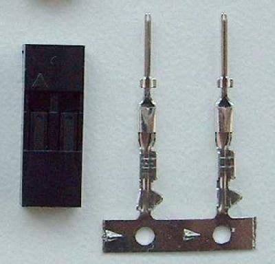 BEL - lepší nabídku nenajdete: Servokonektor kolíčky 2 piny.