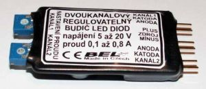 Dvoukanálový regulovatelný budič LED diod