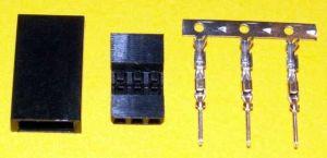 Servokonektor JR/HITEC kolíčky