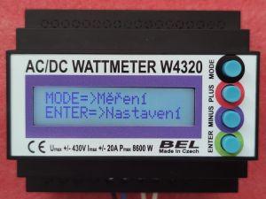 AC/DC wattmetr s pamětí W4320