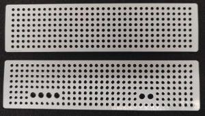 Panely s vyvrtanými chladícími otvory pro skříňku Combiplast CP-2055M